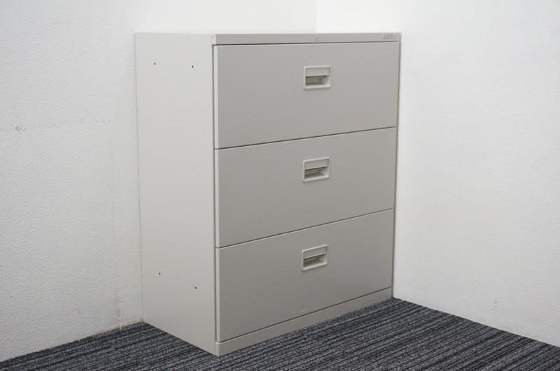 オカムラ 42-A 3段ラテラル書庫 W800 D400 H950