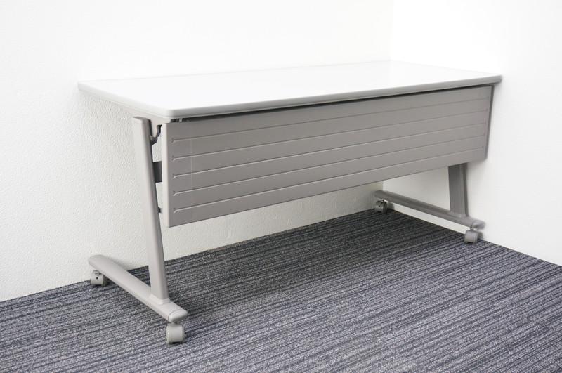 オカムラ 8184型 Nタイプ フラップテーブル 1560 幕板付