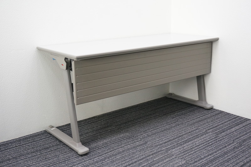 オカムラ Lタイプ フラップテーブル 1560 幕板付
