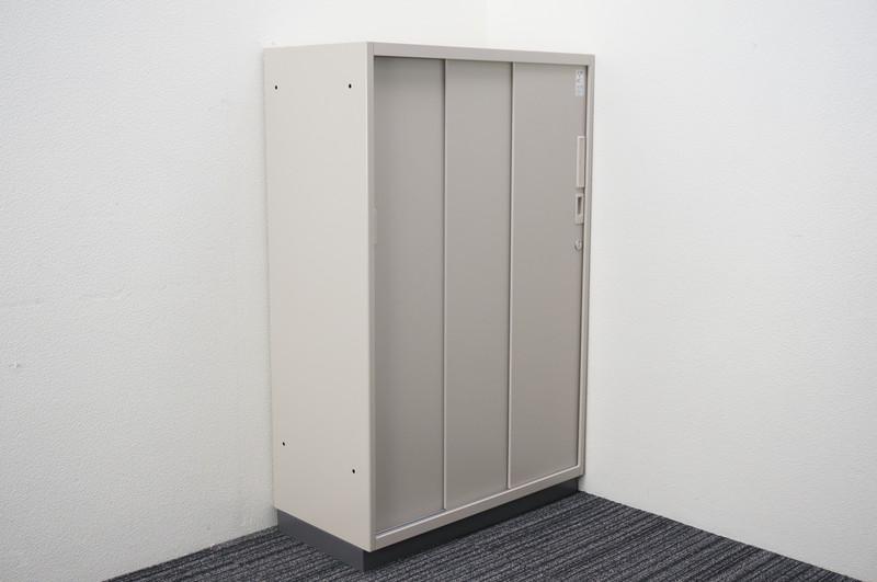コクヨ 3枚引戸書庫 シングルベース W800 D400 H1245
