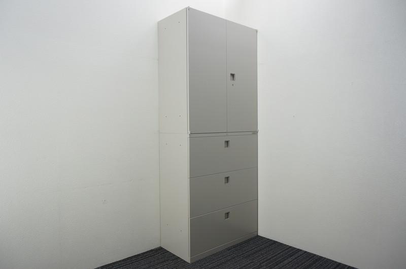 オカムラ レクトライン 3段ラテラル+両開き書庫 H2150 Z13色