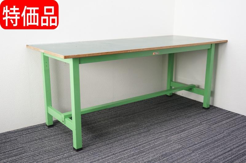 サカエ 作業台 1875 グリーン 800㎏ H750 特価品(2)