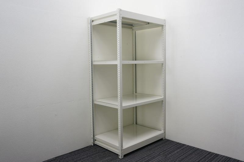 オカムラ 中量棚 天地4段 ホワイト W930 D620 H1800 200kg【店頭販売のみ】