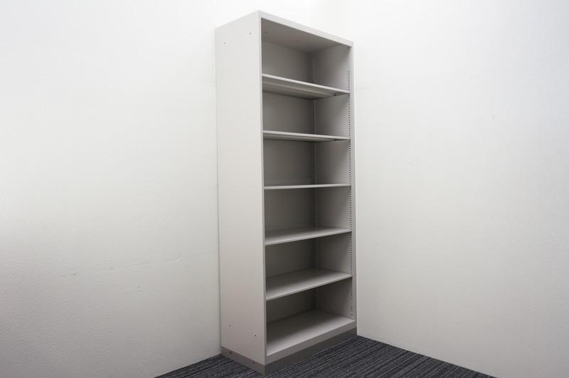 イトーキ シンライン オープン書庫 W900 D425 H2140 WE色