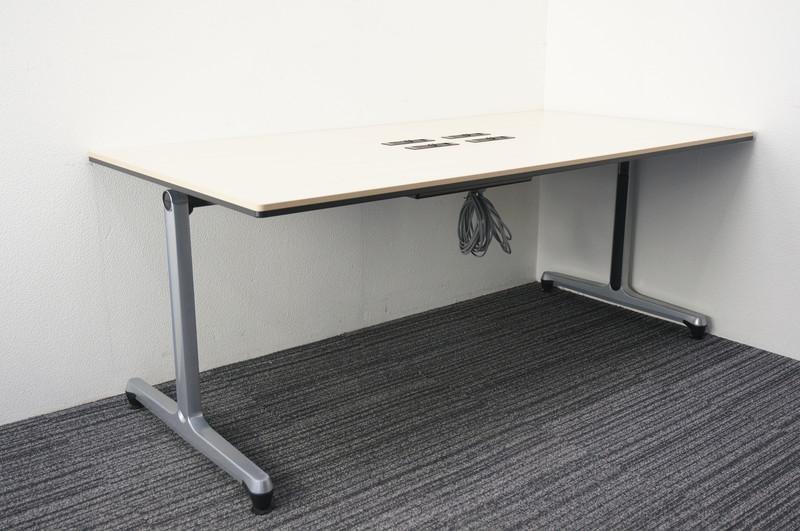 オカムラ インターアクト ミーティングテーブル 1890 H720 ライトプレーン