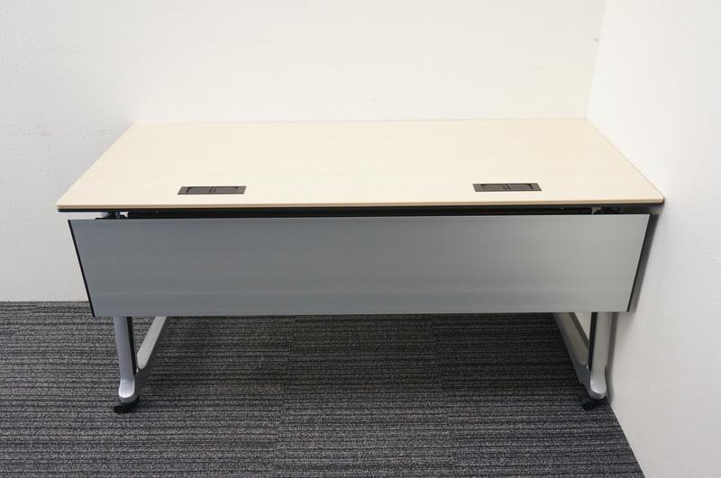 オカムラ インターアクトプロ フラップテーブル 1560 ライトプレーン