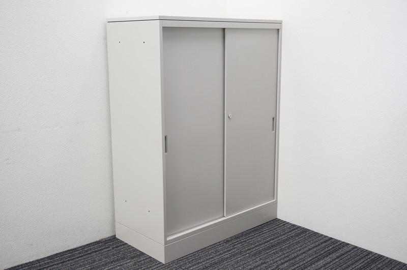 オカムラ 42 引戸書庫 天板付 H1220 B100