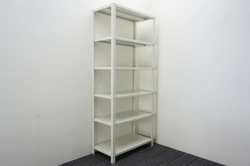 オカムラ 軽量棚 天地6段 ホワイト W900 D450 H2100 【店頭販売のみ】