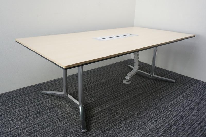 オカムラ ラティオ2 ミーティングテーブル 2111 ライトプレーン (2)