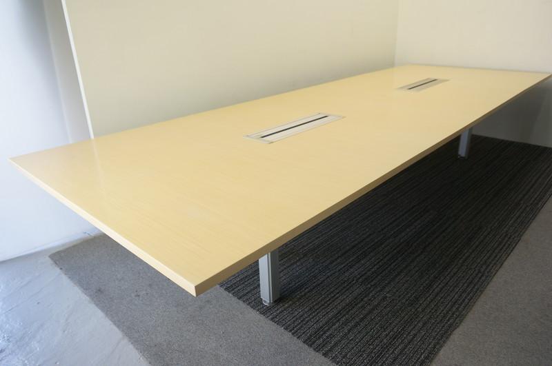 オカムラ 4L75 ミーティングテーブル 4014 ナチュラル (2)