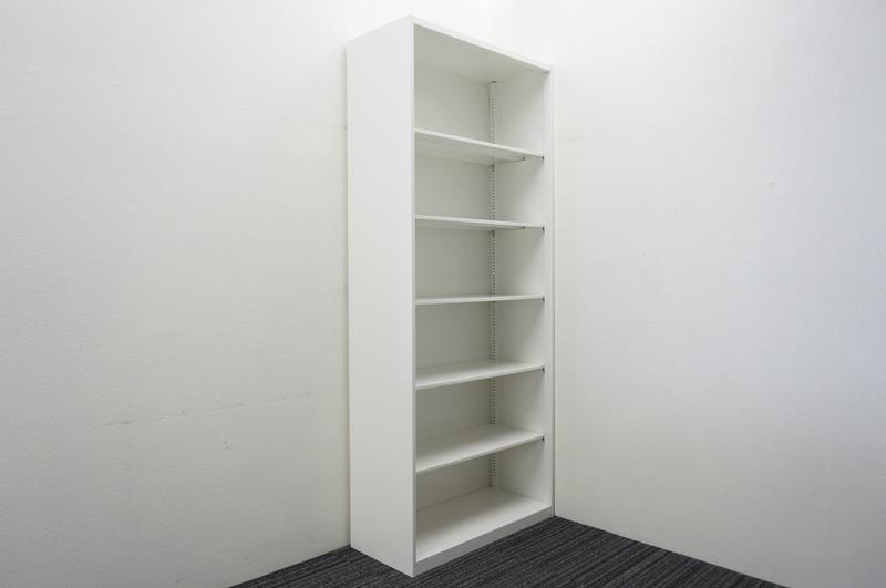 オカムラ レクトライン オープン書庫 W900 D400 H2150 ベース無し ZA75色