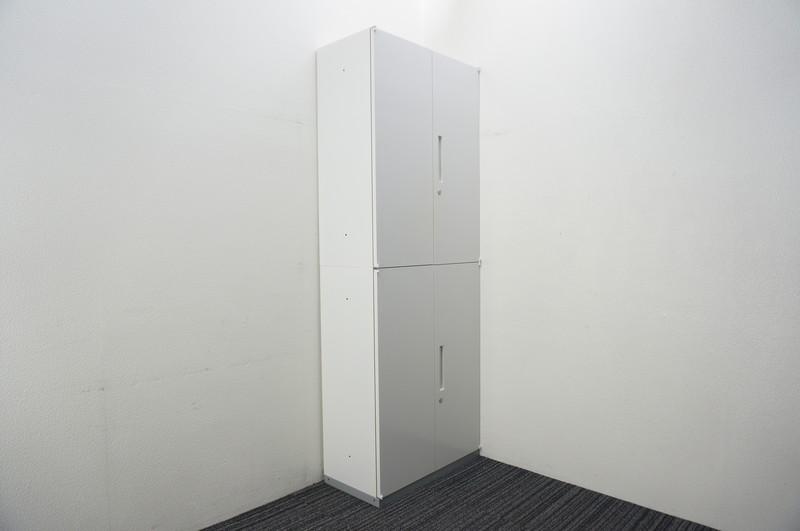 イナバ リベスト 両開き2段書庫 W800 D400 H2165 ホワイト