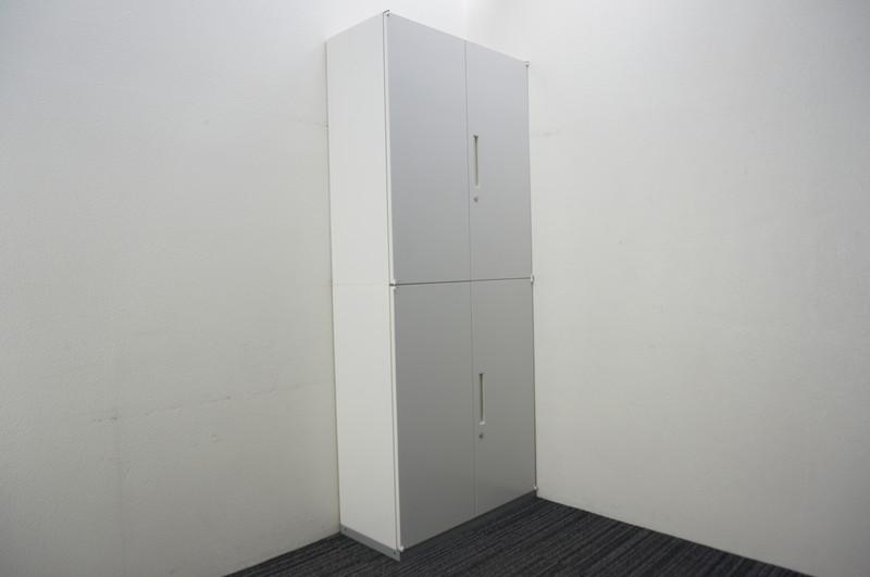 イナバ リベスト 両開き2段書庫 W900 D400 H2165 ホワイト