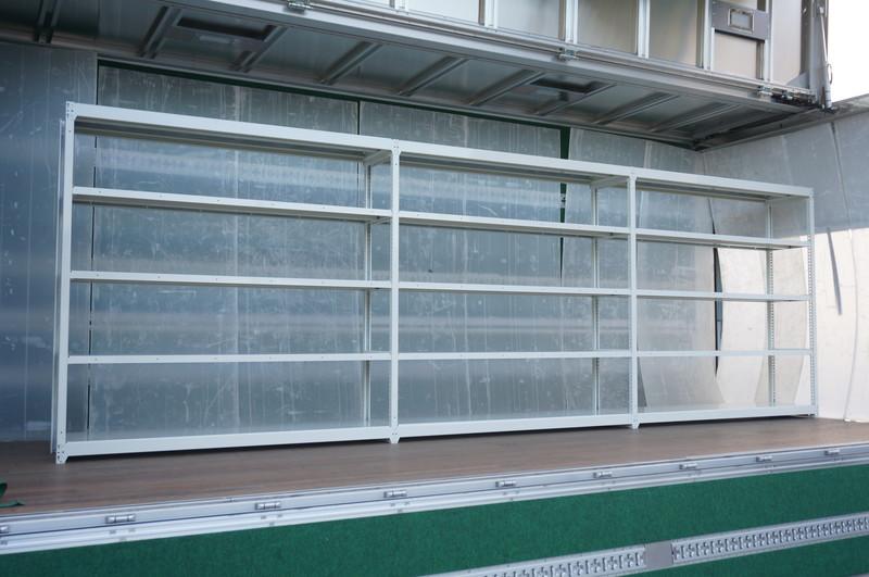 オカムラ 軽量棚 3連 天地5段 W5440 D450 H1800 100kg 【店頭販売のみ】