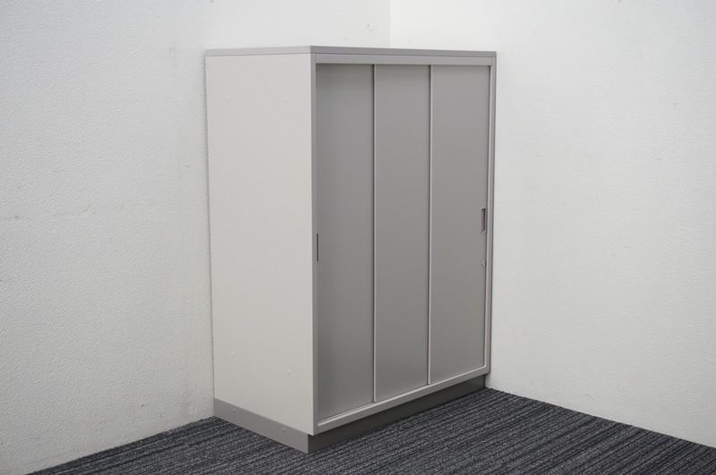 【B級 未使用品】 イトーキ シンライン キャビネットA4 3枚引戸書庫 天板付 W800 D450 H1120 WE色