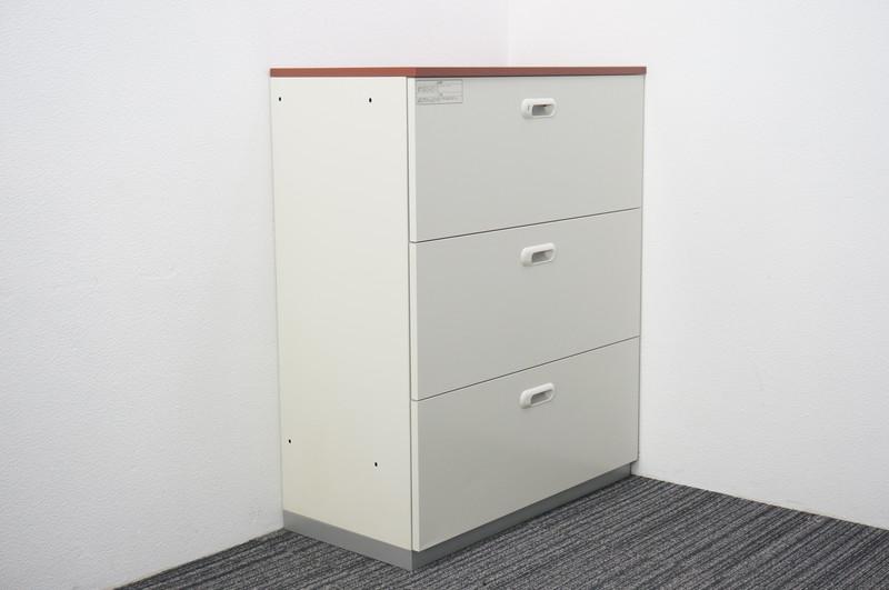 プラス LINX LX-5 3段ラテラル書庫 天板付(ペア) H1120