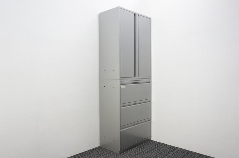 ダイシン工業(株) 3段ラテラル+両開き書庫 W800 D450 H2150