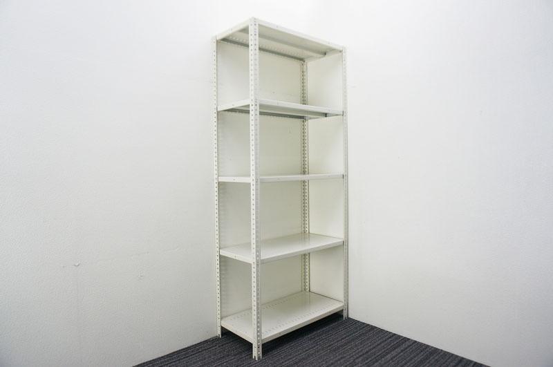オカムラ 軽量棚 天地5段 ホワイト W900 D450 H1800 【店頭販売のみ】