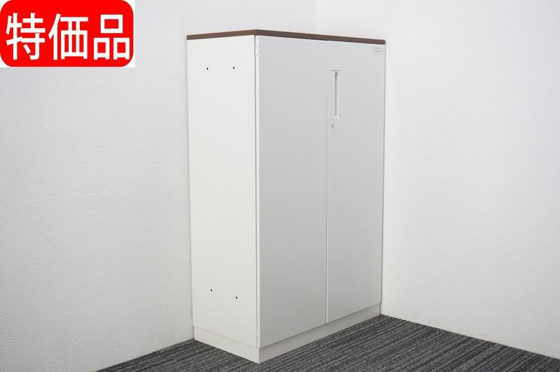 コクヨ エディア 両開き書庫 天板付 W800 D400 H1265 特価品