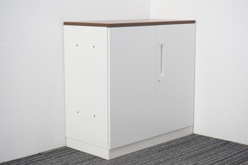 コクヨ エディア 両開き書庫 天板付 W800 D400 H780