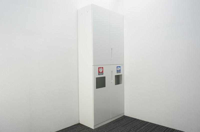 コクヨ エディア トラッシュユニット+両開き書庫 W900 D400 H2160