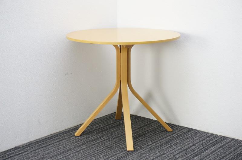 【自社便対応のみ】 木製丸テーブル Φ750 H700