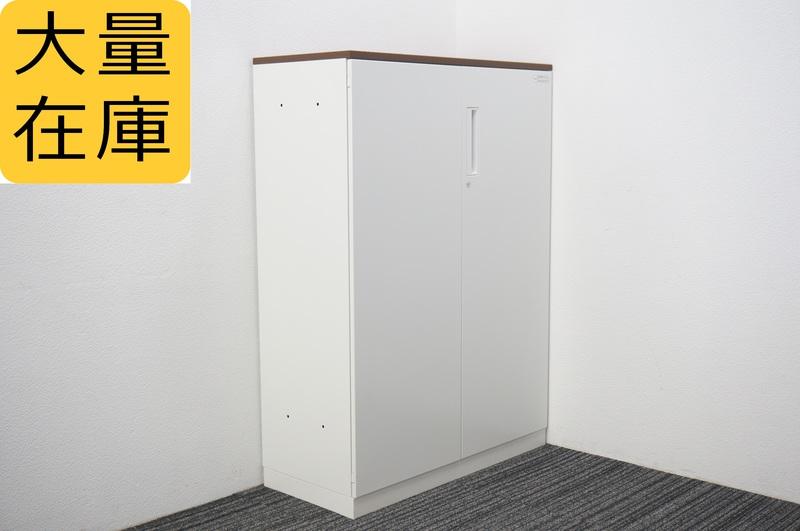 コクヨ エディア 両開き書庫 天板付 W800 D400 H1265