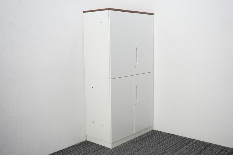 コクヨ エディア 両開き2段書庫 天板付 W800 D400 H1485