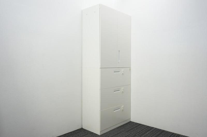 コクヨ エディア ダイヤル式3段ラテラル個別ロック+両開き書庫 H2150
