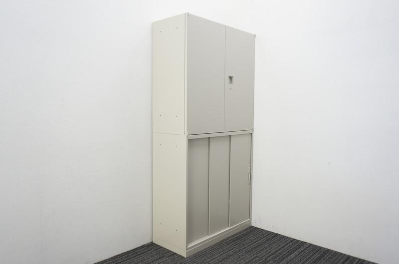 オカムラ レクトライン 3枚引戸+両開き書庫 W900 D400 H1850 Z13色