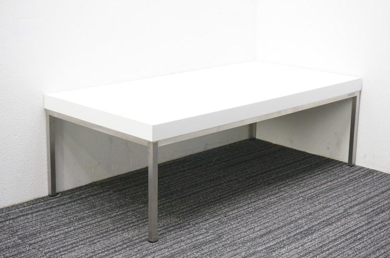 オカムラ アルトカフェ ローテーブル W1200 D600 H397 ホワイト