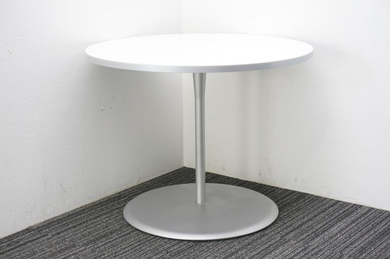 オカムラ アルトカフェ 丸テーブル Φ900 H700 ホワイト