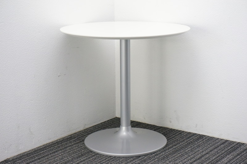 丸テーブル ホワイト Φ750 H710