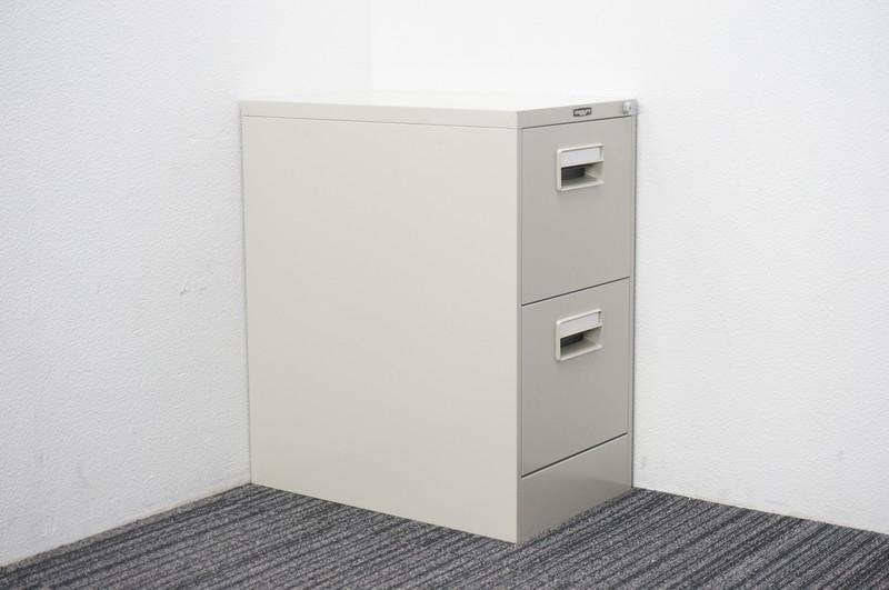 オカムラ ファイリングキャビネット A4 2段 W387 D620 H740