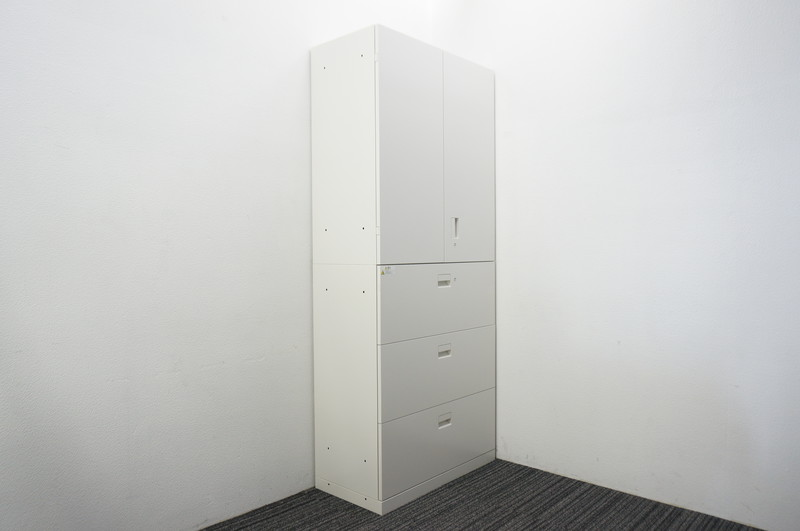 【B級 未使用品】イトーキ エス 3段ラテラル+両開き書庫 H2140 W9色
