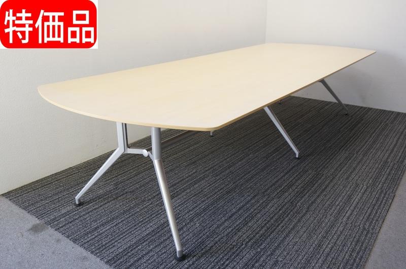 イトーキ DD 両アール型ミーティングテーブル 3212 フェアメープル 特価品