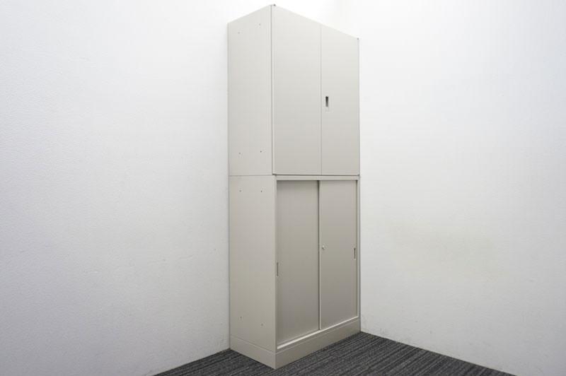 オカムラ 42 2枚引戸+両開き書庫 H2250 Z13色