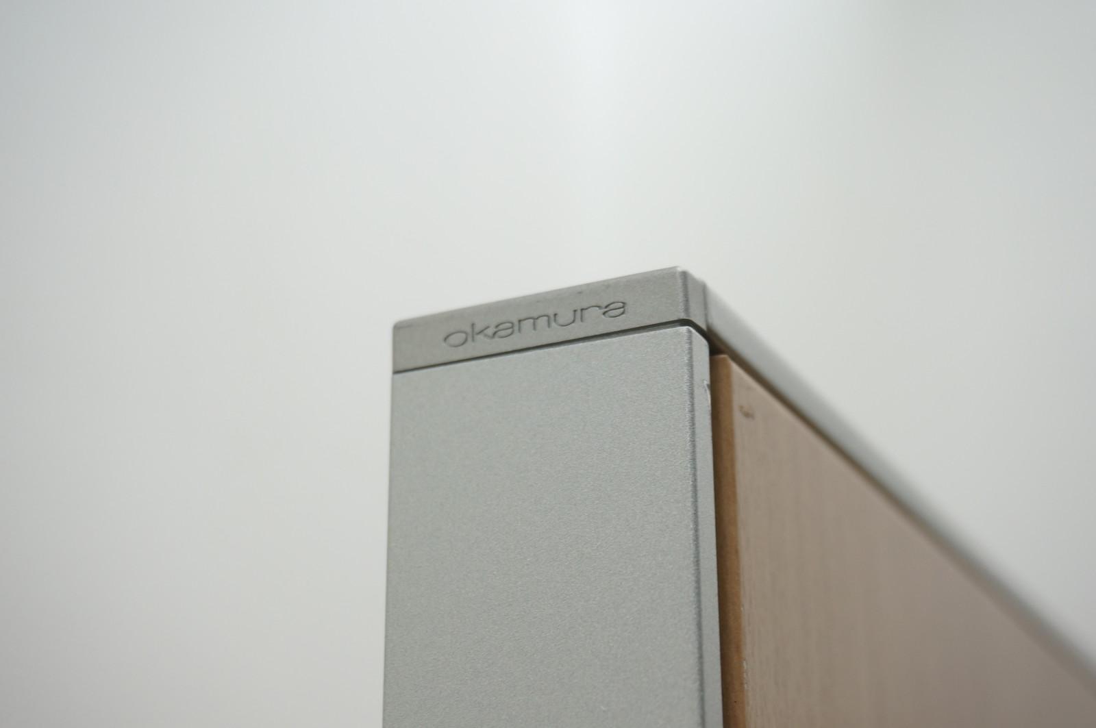 オカムラ ポジット パーティション スチールパネル ネオウッドミディアム H1920