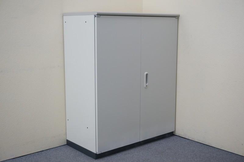 プラス LINX LX-5 両開き書庫 ホワイト 天板付 H1120