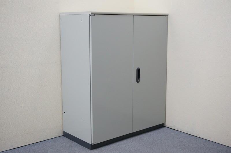 プラス LINX LX-5 両開き書庫 エルグレー 天板付 H1120