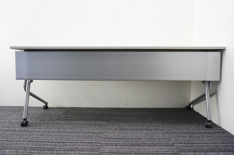 オカムラ ネスティア フラップテーブル 1860 ライトグレー 特価品