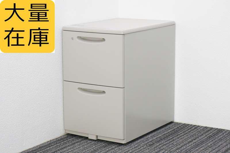 オカムラ SD 2段ワゴン 直行キャスター