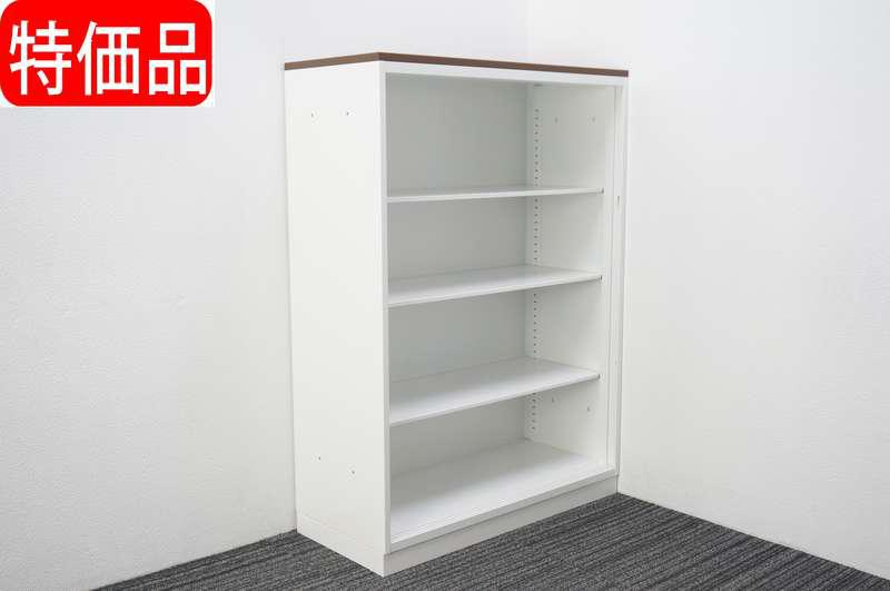 コクヨ エディア オープン書庫 天板付 W900 D400 H1265 特価品