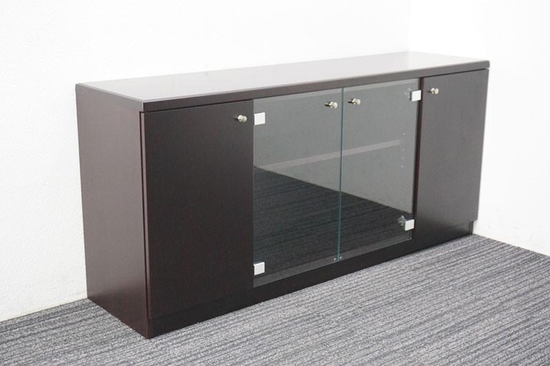 オカムラ 木製サイドボード W1500 D400 H700
