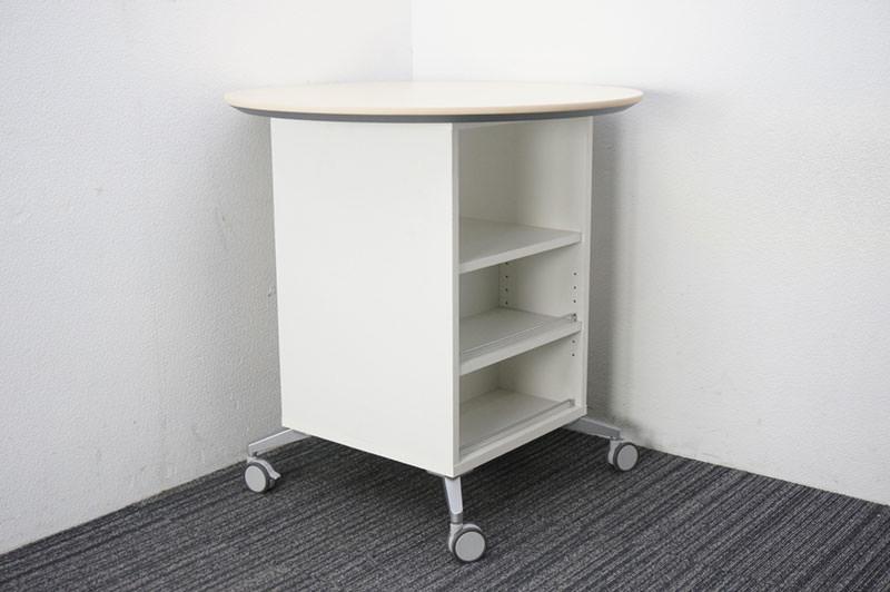 オカムラ アルトコーボウ アトリエテーブルD ライトプレーン Φ900 H900