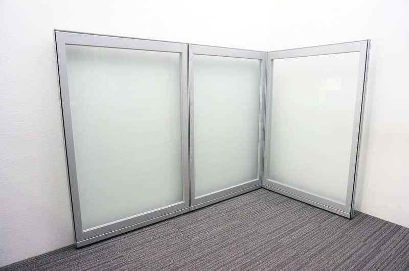 コクヨ フレクセル2 パーティション ガラスパネル W1000 H1535