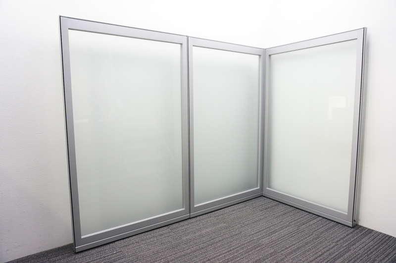 コクヨ フレクセル2 パーティション ガラスパネル W1100 H1835