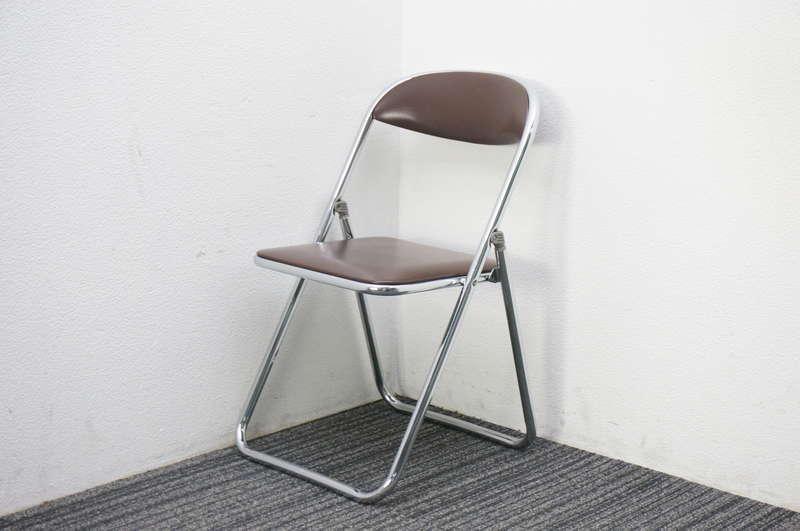 コクヨ 折りたたみ椅子 ブラウン
