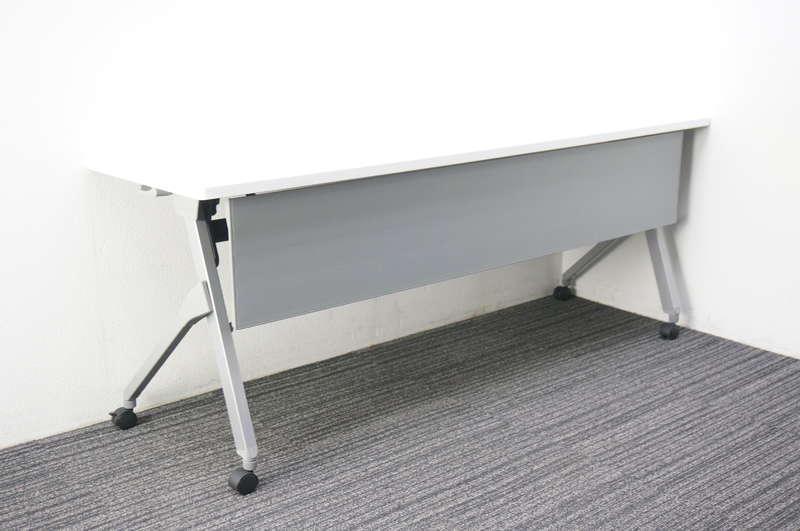 オカムラ フラプター フラップテーブル 1860 幕板付 ホワイト