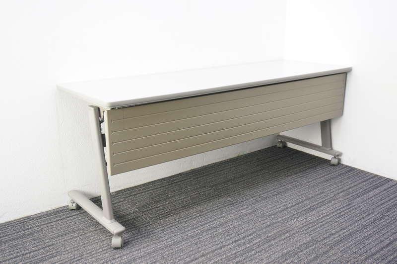 オカムラ Nタイプ フラップテーブル 1860 幕板付